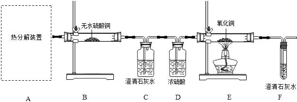受热易分解,是生产锂电池的原材料,某化学兴趣小组设计实验验证草酸亚