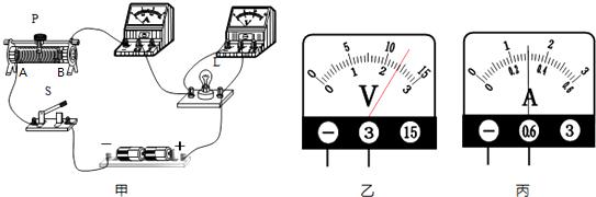 小明用图甲测定小灯泡l的电功率.