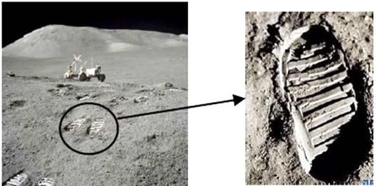"""2017年底我国将发射""""嫦娥五号""""月球探测器,实现区域软着陆及采样返回.下图为美国航空航天局网站公布的月球勘察轨道器拍摄到的影像,该影像是迄今为止最大细节度显示了人类登月计划在月球上留下的印记.完成下"""